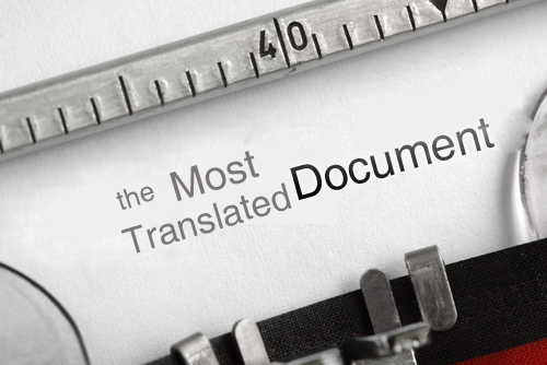 The Most Translated Document